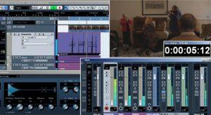 Una fase della lavorazione della colonna sonora