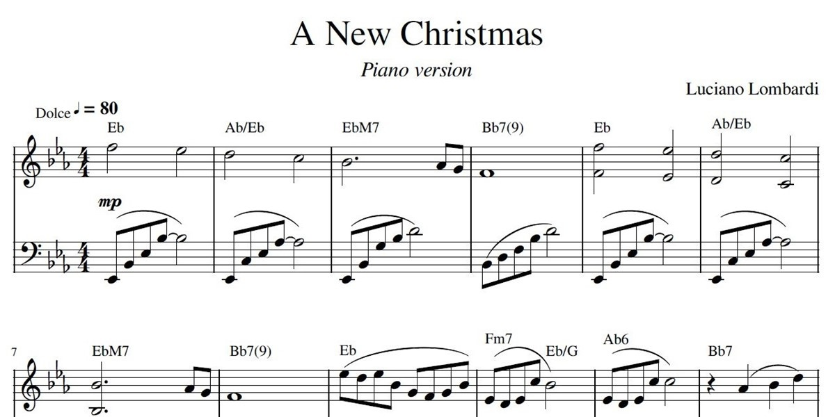 A New Christmas - piano score