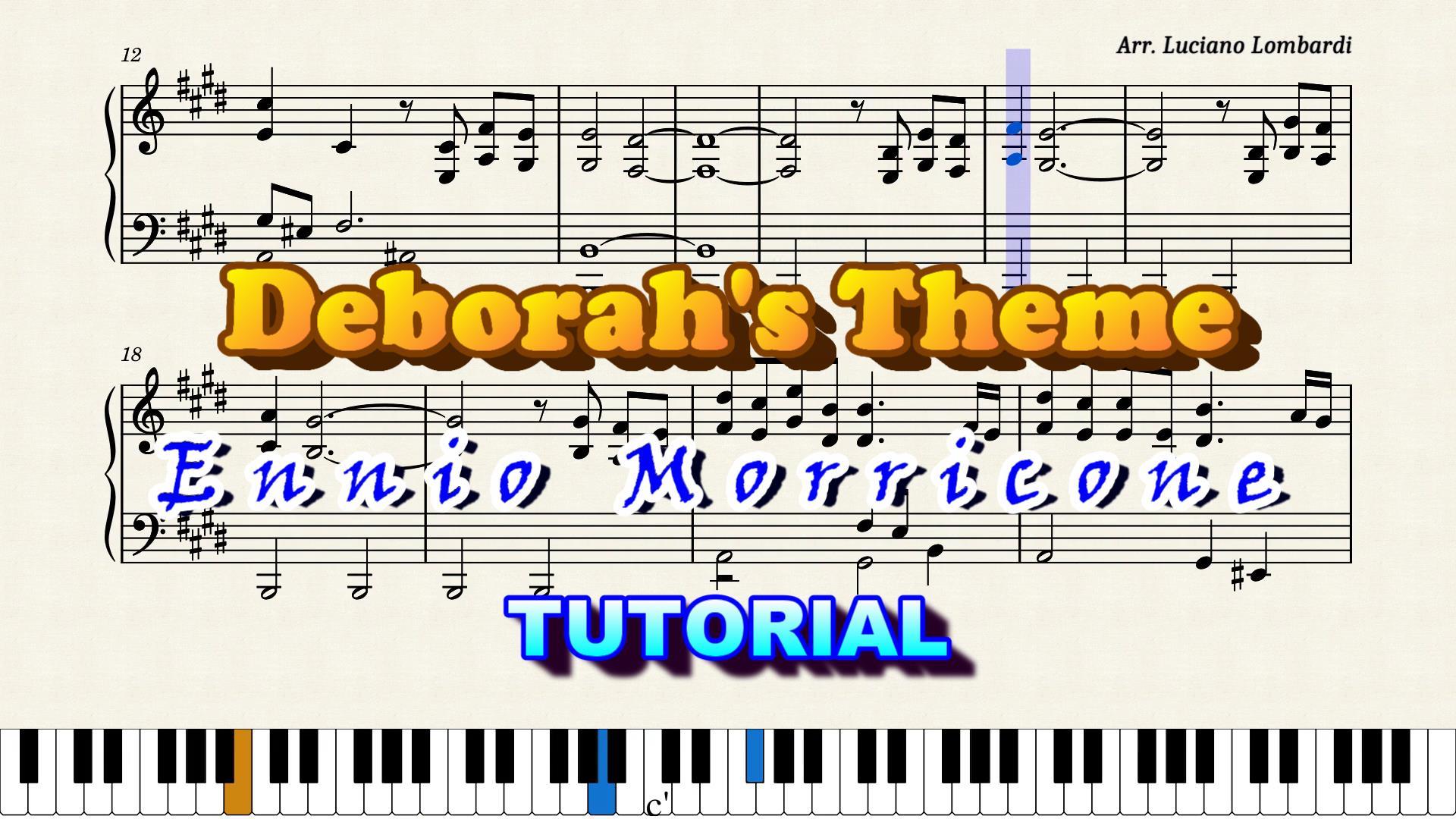 Tema di Deborah - Deborah's Theme Tutorial