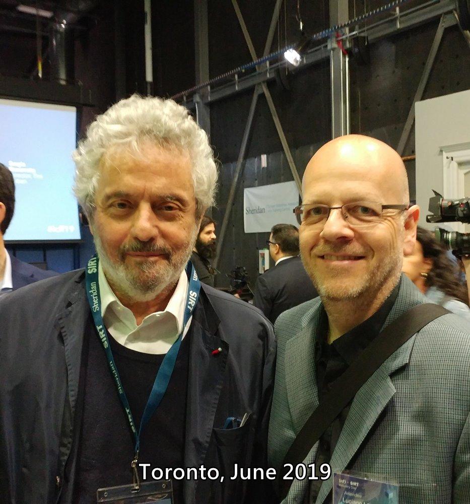 Maestro Nicola Piovani e Luciano Lombardi